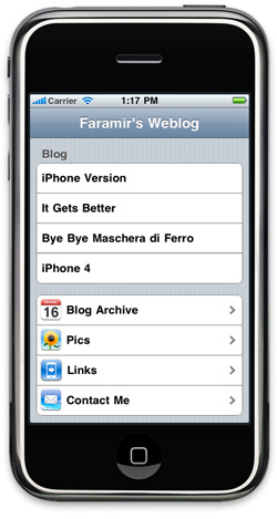 iPhone Faramir's Weblog