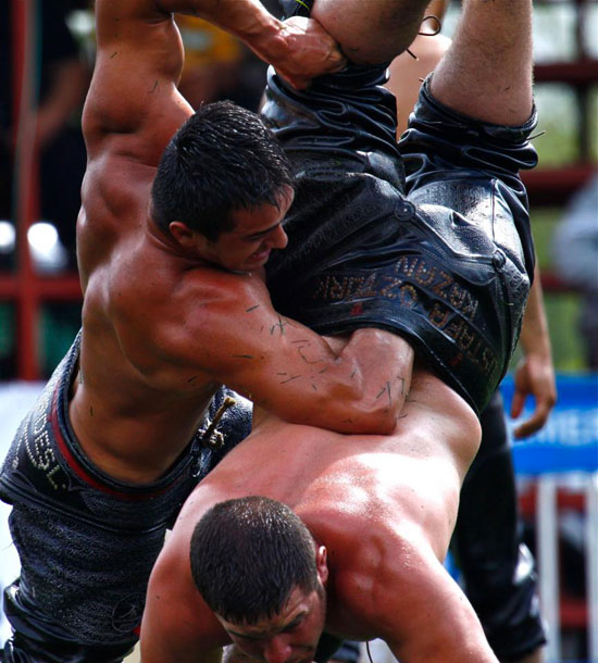 Turkish Oil Wrestling 01