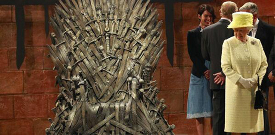 Game of Thrones Elizabeth II Visit
